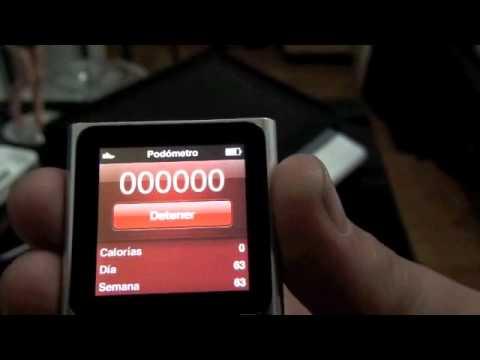 Utiliza el podómetro del nuevo iPod nano 6G