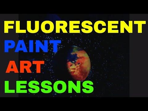 FLUORESCENT ART PAINTING 1.POSTER ON ETSY store StarlightByRobert
