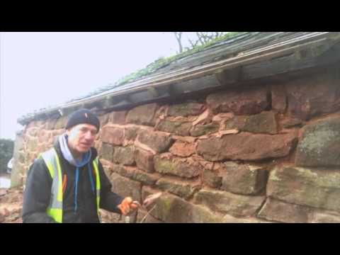 How to Repair a stone barn: raised pointing