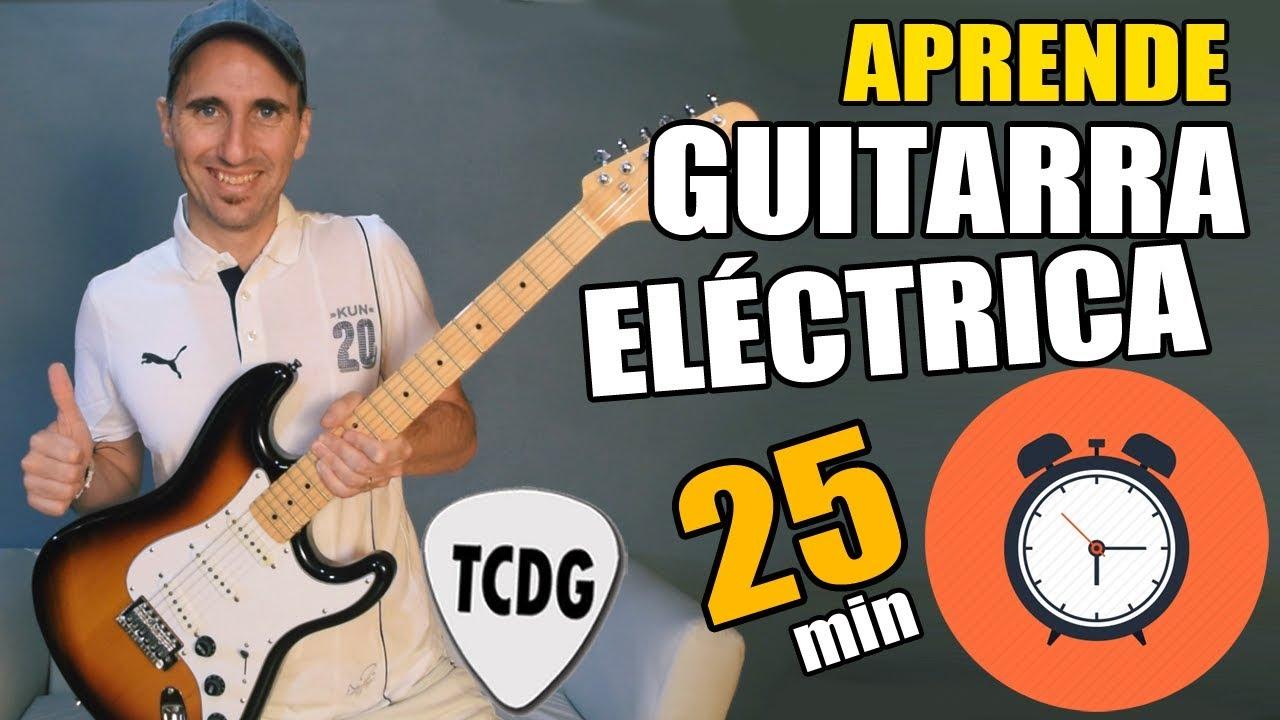 ¡Aprende como tocar guitarra eléctrica en solo 25 minutos! Tu primera clase nivel principiante