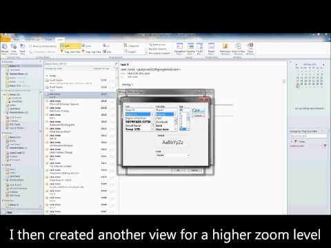 Outlook 2010 - Recieved Pane Zoom