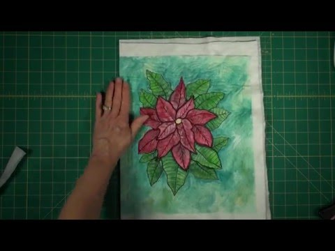 How to Make a Painted and Quilted Poinsettia Wall Hanging Part 3 of 3