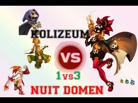 [Dofus] Kolizéum 3 vs 1 avec Nuit, Roublarde 189 N°3,