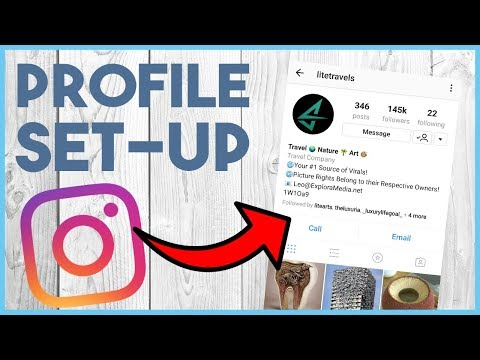 😁 HOW TO SET UP YOUR INSTAGRAM PROFILE AND BIO - CRASH COURSE LESSON 2 😁