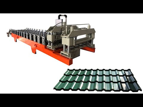 Step tile C type bamboo roll forming machine