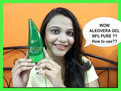 Benefits & Uses of WOW ALOEVERA GEL   99% Pure Aloe Vera Gel   No Parabens.