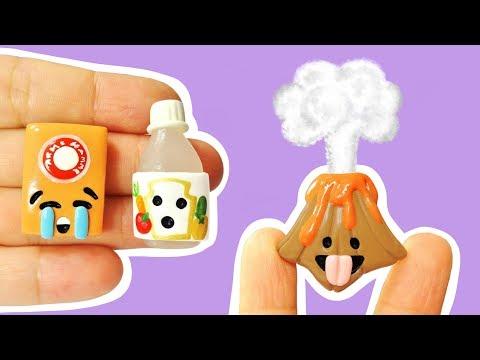 EXPERIMENT VS VOLCANO SCIENCE EMOJIS! Polymer Clay Tutorial