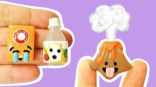 EXPERIMENT VS VOLCANO SCIENCE EMOJIS! Polymer Clay Tutorial
