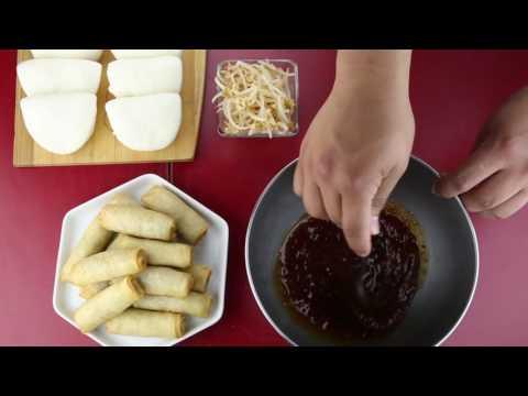 Pork & Veg Spring Roll Bao Bites