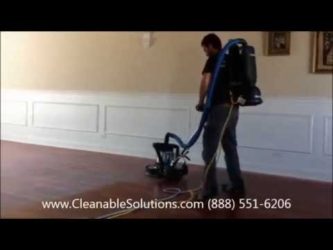 Hardwood floor screening / Buffing dust free - Cleanable Solutions