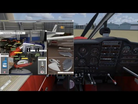 FSX - A2A Piper 180 Cherokee Overview, Tour and Startup