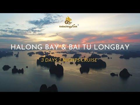 Halong Bay and Bai Tu Long Bay 3 days 2 nights cruise itinerary - Indochina Junk