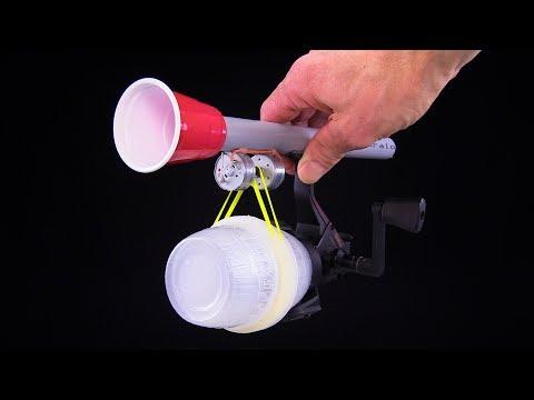 How To Make a Flashlight using Fishing Reel - Free Energy
