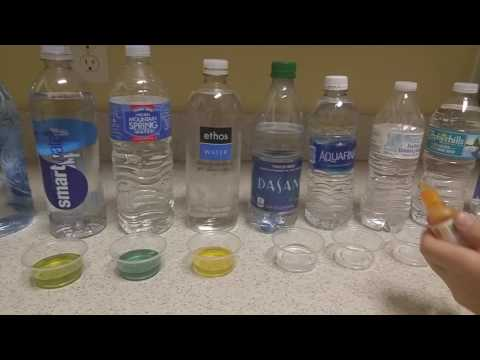 Bottled water pH level test