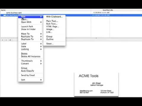Scanning Business Cards into Address Book