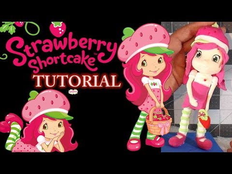 HOW TO MAKE STRAWBERRY SHORTCAKE  TUTORIAL  | CLAY CRAFT  DIY | FIGURINE | Cup n Cakes Gourmet