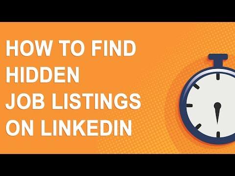 How to find hidden job listings on LinkedIn