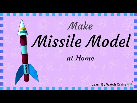 Make a Missile using paper at Your Home (DIY)   Learn By Watch Crafts
