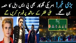 American Singer Perform With Ali Zafer And Shahzad Roy In PSL 3 Opening Ceremony 2018
