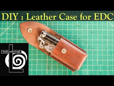 DIY How to Make Leather Belt Clip Case Holster for EDC Leatherman Flashlight