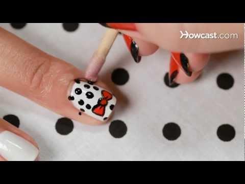 How to Create a Polka Dot Bow Design | Nail Art
