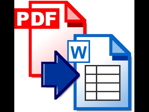Copy PDF tables to Word File