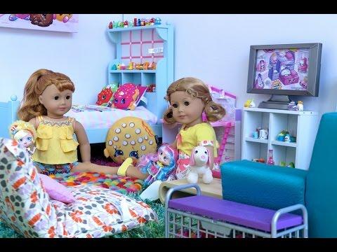 American Girl Doll Shopkins Room