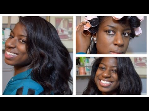 Natural Hair | Flawless Waves with Hot Rollers on 3c-4a Hair
