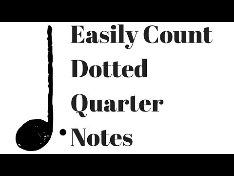 How to Count Dotted Quarter Notes - Animated Rhythm Lesson