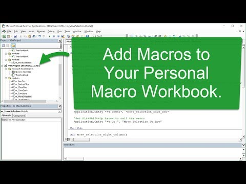 How to Add the Move Selection Macros to Your Personal Macro Workbook