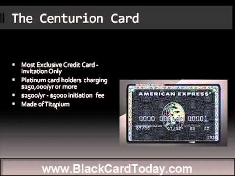 American Express Black Card   Centurion