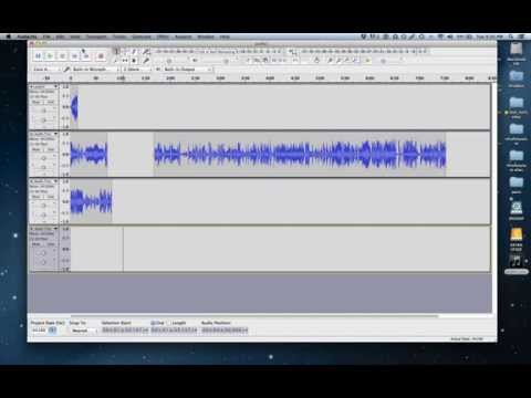 Splitting Tracks in an Audio File Using Audacity
