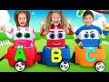 Sasha Plays With Choo Choo Wagon Train And Learn Abc Alphabet With Toys