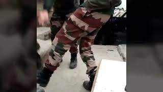 Indian Army boys celebrate dance. ||