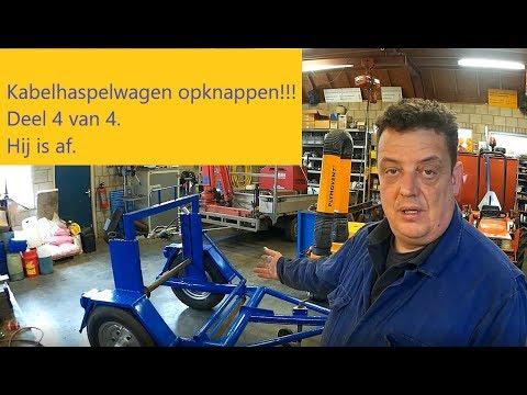 kabelwagen deel 4 van 4 klaar met lassen slijpen schuren en schilderen!!!
