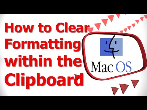How to Clear Formatting within the Clipboard