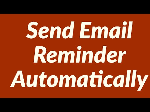 How to send email reminder automatically from Excel Worksheet using VBA