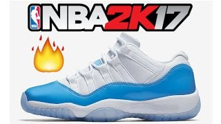 NBA 2K17 Tutorial Air Jordan 11 Low Columbia