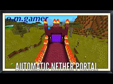 How to make an automatic nether portal at Mcpe