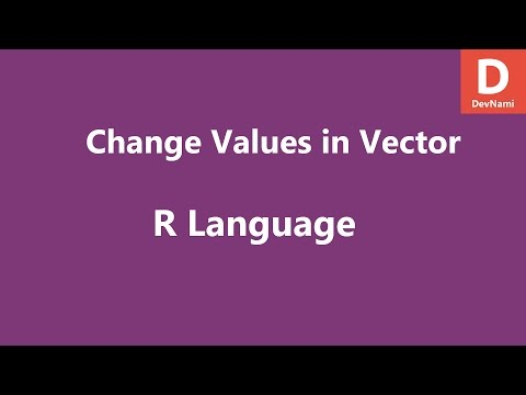 R Programming Change Values in Vector