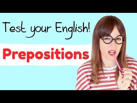 ¿Puedes aprobar este examen de inglés ? 🙄 Preposiciones  (IN/ON/AT)