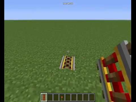 Minecraft - How To SetUp A Powered Rail.
