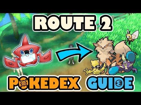 ROUTE 2 COMPLETE POKEDEX GUIDE - Pokemon Sun and Moon