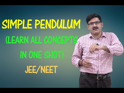 SIMPLE PENDULUM | Learn All Concepts In One Shot | NEET/JEE