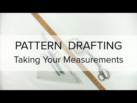 Sewing Patterns - Flat Pattern Drafting, How to Take Measurements
