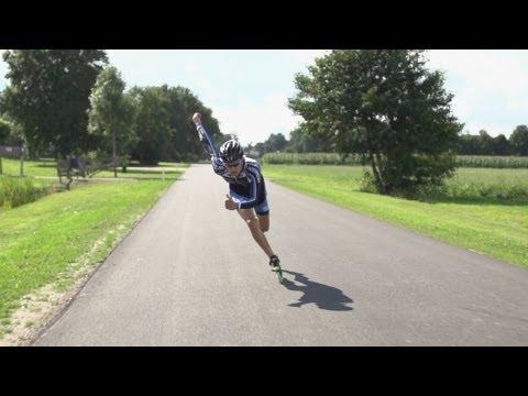 Inline Skate Double Push Technique Slowmotion, Mark Horsten