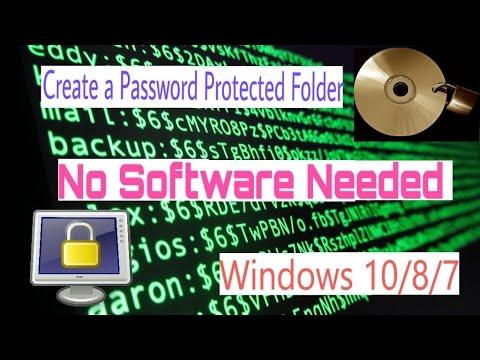 How to Put Password on Folder 2018|| Password Protect Folder || || CB TECHNIC WORLD