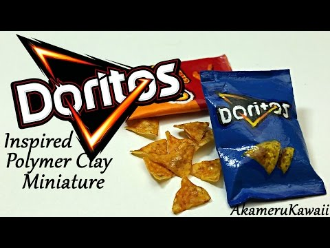 Miniature Doritos inspired Chips & Bag - Polymer Clay Tutorial
