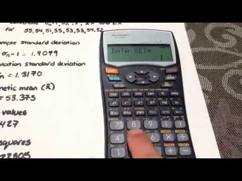 Standard deviation and other statistical calculations using the Sharp EL-531W calculator
