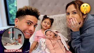 ELLE BABYSITS HER NEWBORN SISTER ALONE...YOU WON'T BELIEVE WHAT SHE DID!!! **HIDDEN CAMERA**